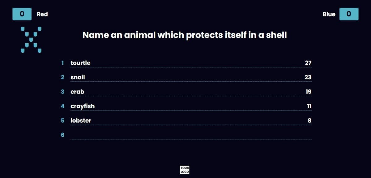 family feud game question name an animal which protects itself in a shell